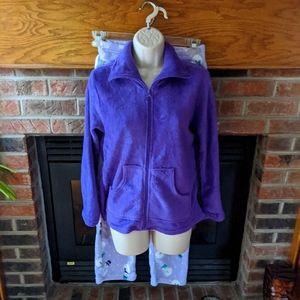 PinkK brand purple fleece pajamas size juniors S